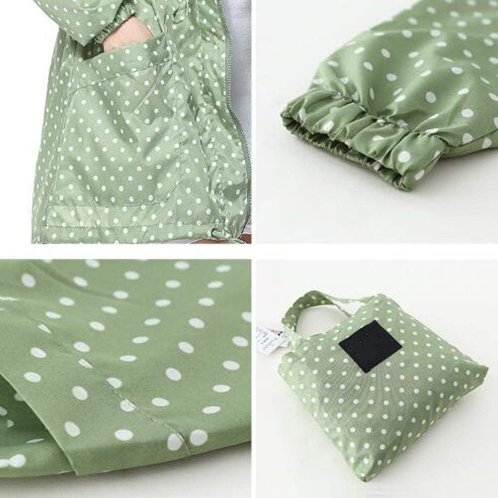 BOLAWOO Pengfei Raincoat Rainwear Poncho Jacket Rain Vita Windbreaker Traspirante Mode di Marca E Facile da Guidare 4 Colori Gray-green