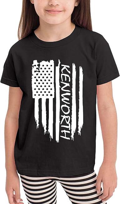 Darkt USMC Kids Short Sleeve T-Shirt Black for Boys Girls