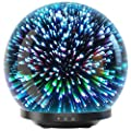 Essential Oil Diffuser - 3D Glass 230ml Galaxy Premium Ultrasonic Aromatherapy Oils Humidifier With Amazing LED Lights, Handy Auto Shut-Off Function & Large Water Tank