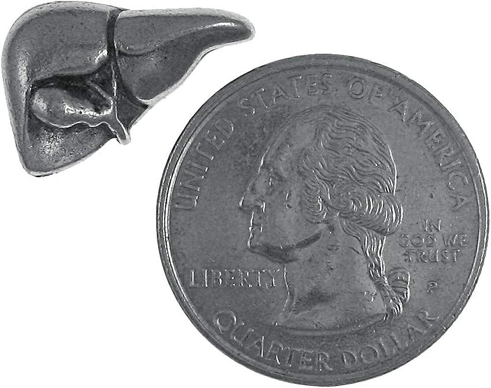 Jim Clift Design Liver Lapel Pin