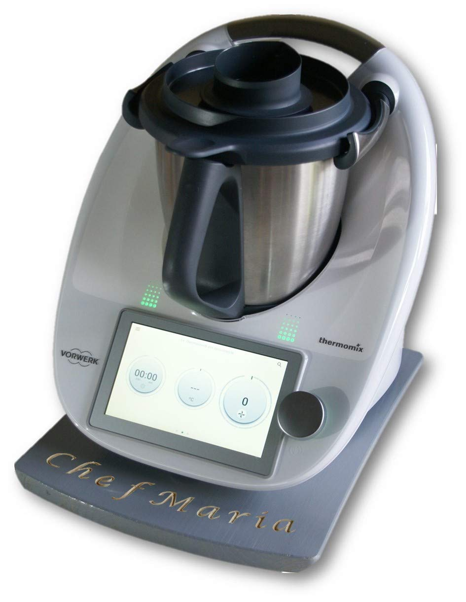 La tabla deslizante para Thermomix Tm5 y Tm6 gris (colores y texto personalizable): Amazon.es: Handmade