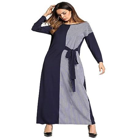 Falda Larga de Las Mujeres Musulmanas del Medio Oriente Vestido de ...