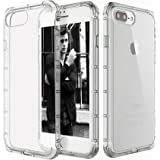 iPhone 7 Plus Case Cover, Elove [ Ultra Thin ] [ Soft ] [ Flexible ] [ Shock Absorbing ] [ Drop Protection ] TPU Transparent Back Case Cover for Apple iPhone 7 Plus/ iPhone 8 Plus - Clear