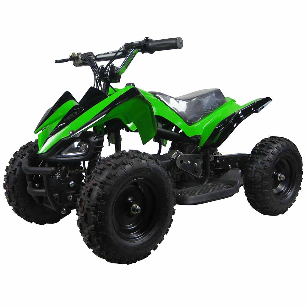 amazoncom kids atv electric youth quad sport for children with reverse green toys games