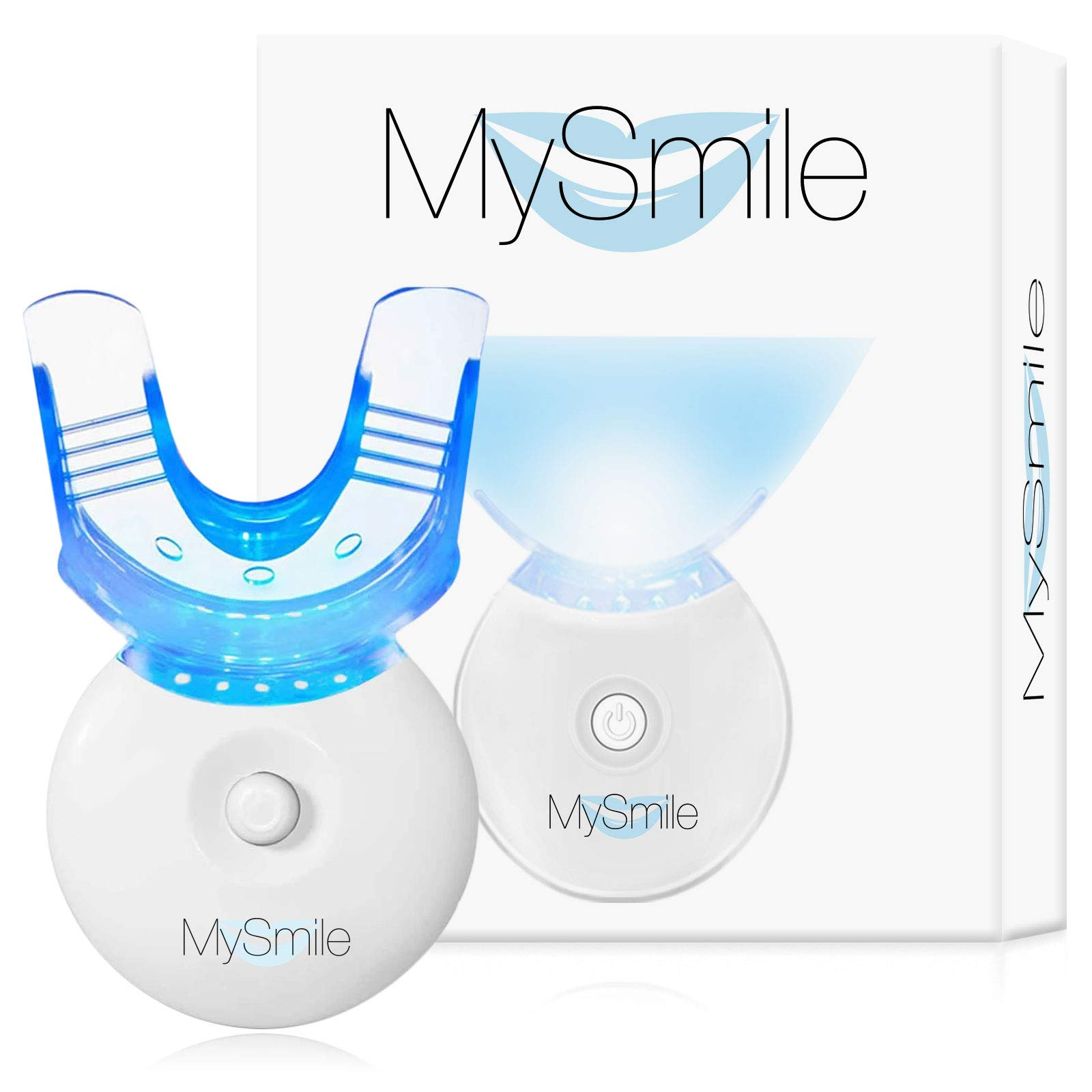 MySmile Teeth Whitening Light Fast & Effective Teeth Whitening with Blue LED Accelerator Light Non-Sensitive Professional Teeth Whitener with Mouth Tray 5 LED