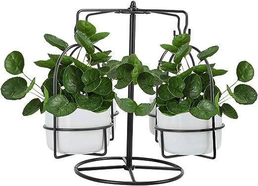 Perchas para plantas Rotación interior Carrusel macetas Soporte ...