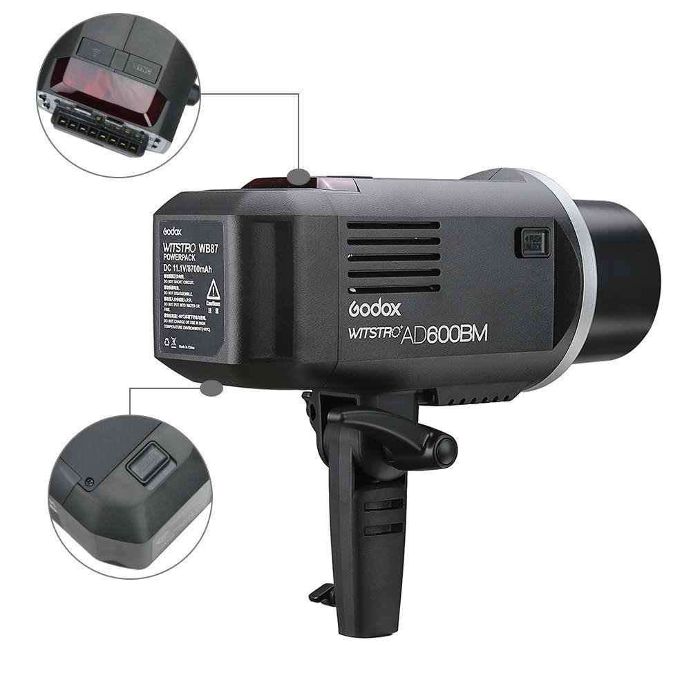Godox AD600BM AD sync 1 / 8000s 2.4G Wireless Flash Light Speedlite,Godox XPro-C for Canon Cameras,AD-H600B Head,PB-600 Bag,CB-09 Suitcase Carry Bag,LETWING Camera Neck Strap by Godox (Image #5)