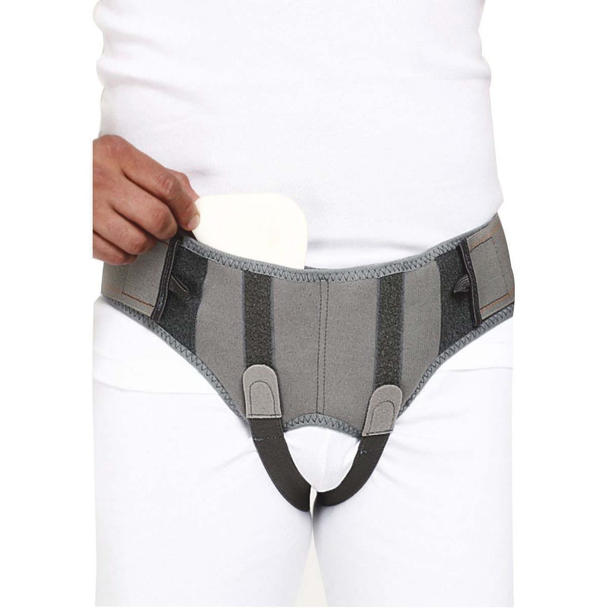 Hernia Belt Support Truss with Special Foam Pads - Superior comfort and Adjustable Pressure - Medium by SoulGenie