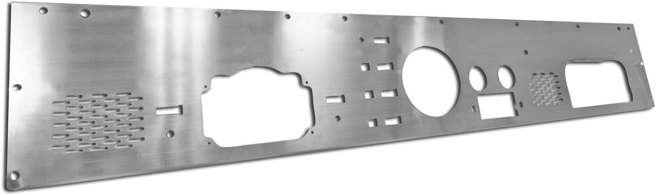 Rugged Ridge 11144.12 Silver Stainless Steel Dash Panel with Pre-Cut Holes