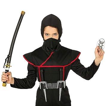 Set de Armas Ninja con Espada catana, Estrellas lanzables y ...
