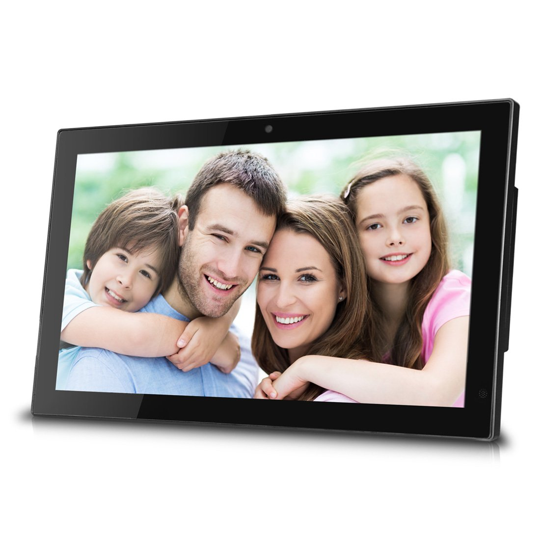 Sungale 14 Inch WiFi Cloud Digital Photo Frame with Front Camera, Remote Control, Free Cloud Storage, High-Resolution 1366x768 LED Display (Black) by Sungale