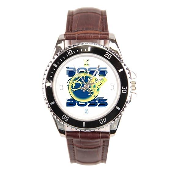 findself Hombres de moda deportes Rude ojo tierra diseños relojes de muñeca banda de cuero relojes: Amazon.es: Relojes