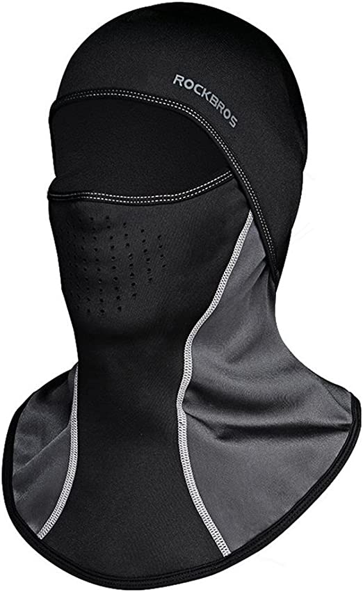 RockBros Winter Outdoor Sports Thermal Windproof Cap Cycling Hat Gray One Size