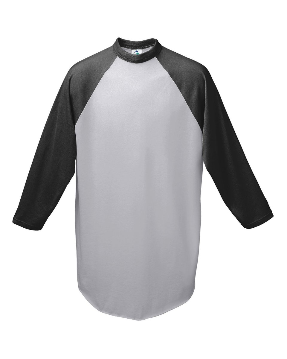 Augusta Sportswear Men's Baseball Jersey, Athletic Heather/Black, XX-Large by Augusta Sportswear