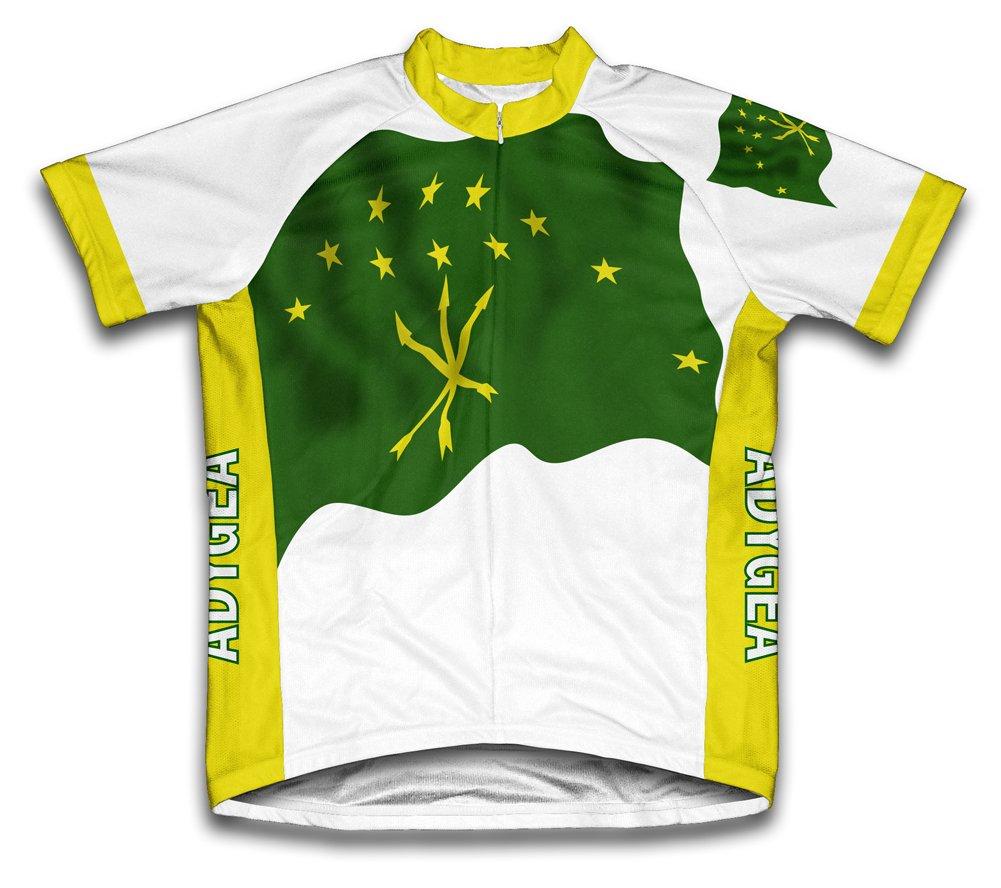 Adygea Flag Radsport Trikot mit kurzer Ärmel für Menner