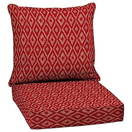 Garden Treasures 2 Piece Red Diamond Ruby Deep Seat Patio Chair