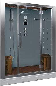 """Ariel Platinum DZ972-1F8-W Steam Shower in White 59"""" x 32"""" x 87.4"""""""
