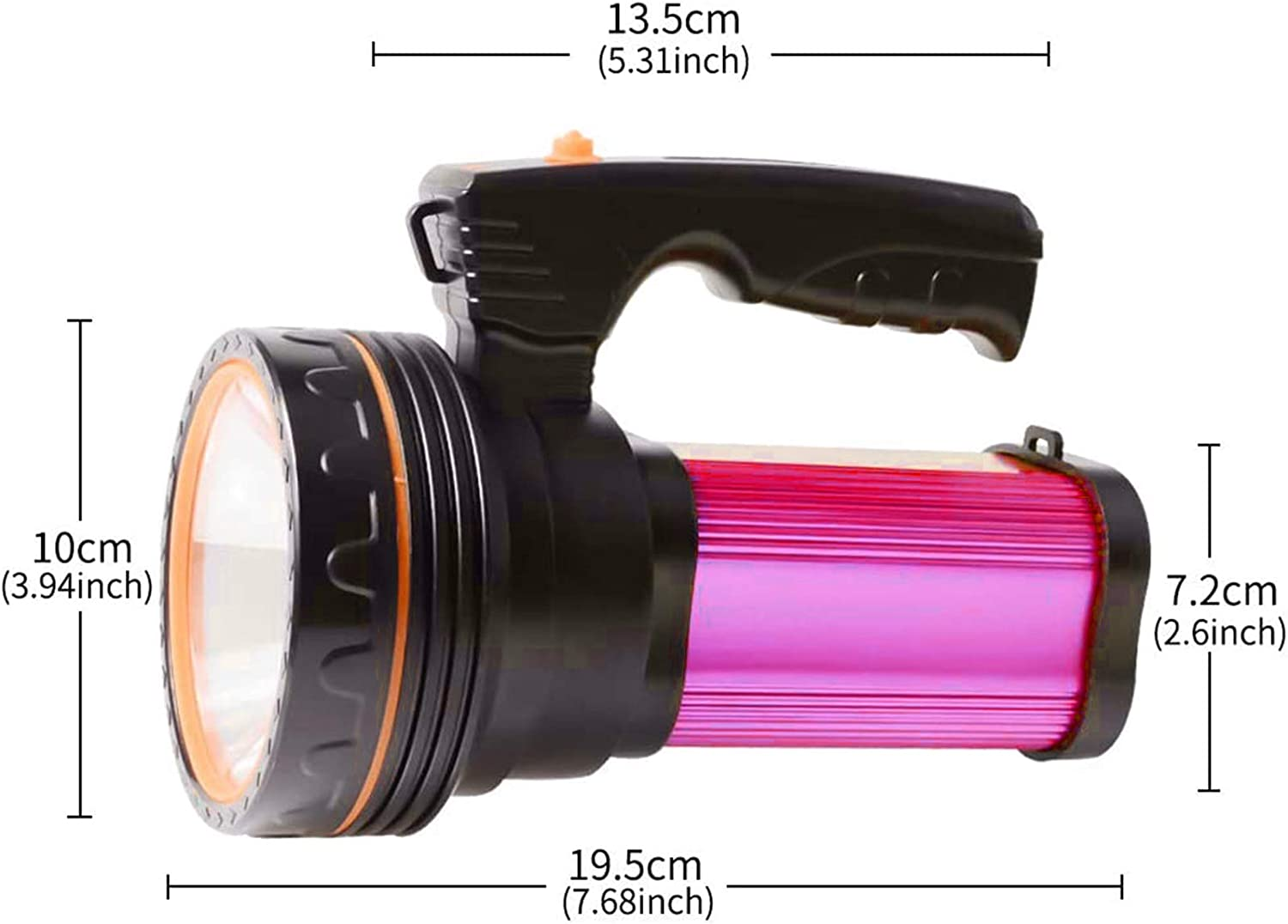 LED handheld tactical flashlight is super bright rechargeable ...