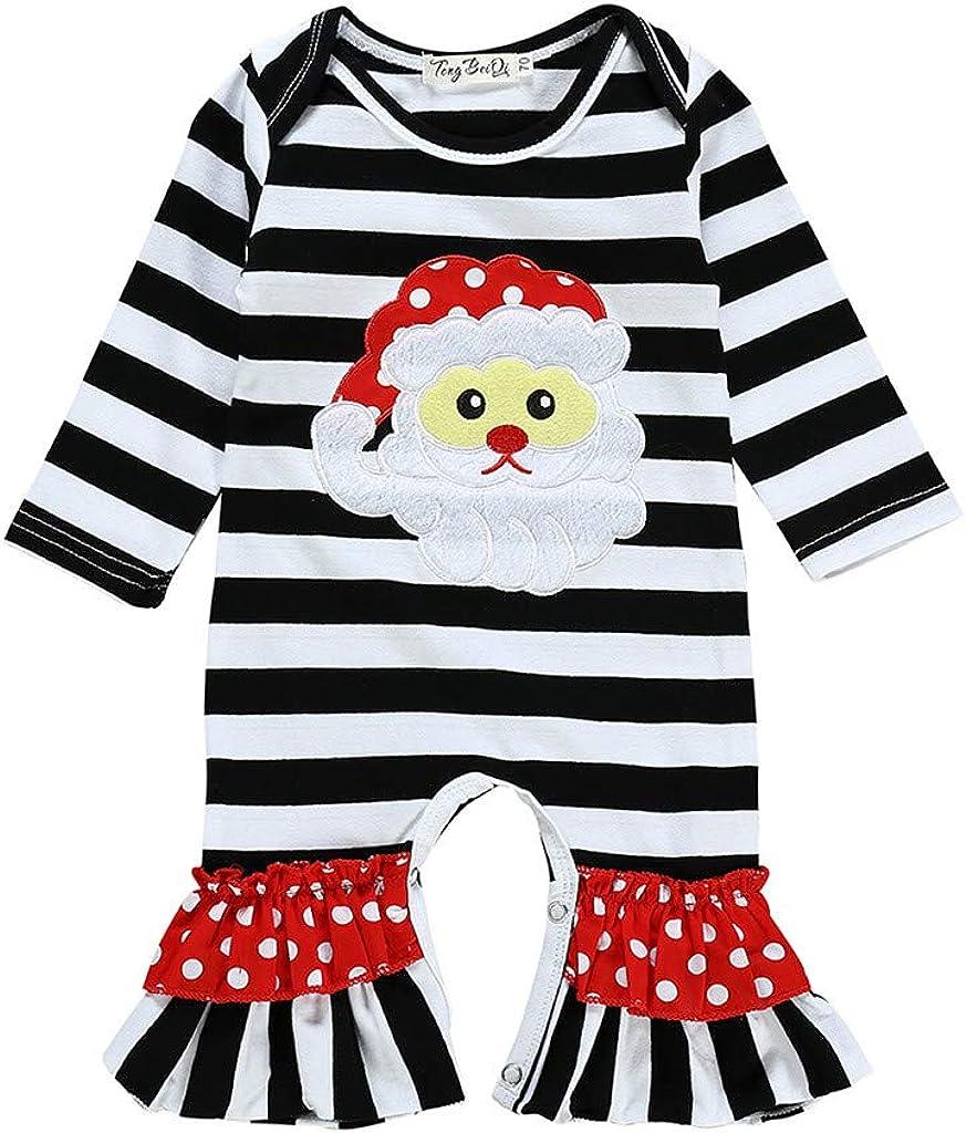 TWIFER Bebé Navidad Conjuntos de Ropa Disfraz Regalo Mono navideño ...