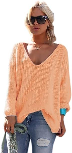 Mikos* Damen Pullover Hoodie Sweatshirt Warm Lange Ärmel Casual Sleeve Pullover Jacke Slim Mantel Tops Neon Urlaub Einheitsgröße SM 3638 (617)