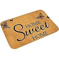 Lubudup Felpudo para puerta de entrada, impermeable, lavable, resistente, antideslizante, felpudo de bienvenida para la…