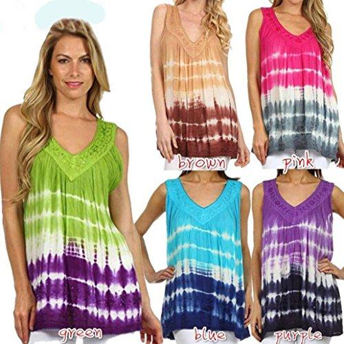 camisas mujer verano 2017 casual Switchali moda blusas sin mangas camisas mujer tallas grandes ropa de mujer en oferta vestidos de fiesta camisa hawaiana funky chalecos mujer Rosado