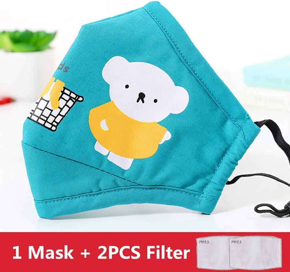 DDELLK Prot/ège-visage r/éutilisable en coton lavable lavable en machine Earloop