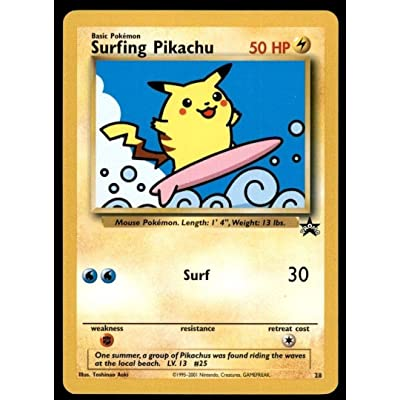 Pokemon - Surfing Pikachu - 28 - Promo Promos: Toys & Games