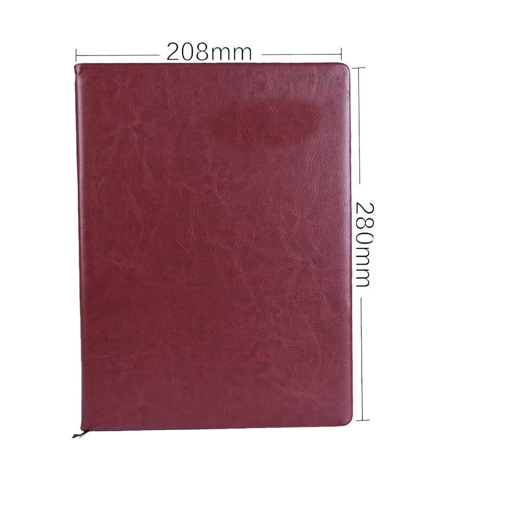 Papeleria cuaderno engrosamiento pequeño Qingxin University Oficina student Notebook Oficina University estudiante negocio breve manual A4 208   280 mm verde,Sky Azul A4 845d2f
