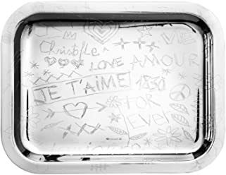 Christofle Graffiti Silver-Plated Serving Tray #4200440