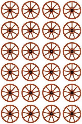 23-Inch Beistle 55570 24-Pack Plastic Wagon Wheel