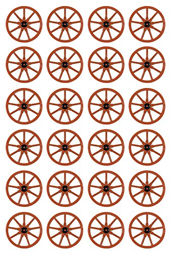 (Beistle 55570 24-Pack Plastic Wagon Wheel, 23-Inch)