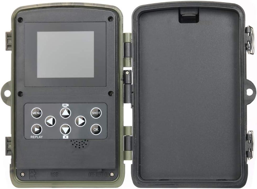 XUELIEE Cam/éra de Chasse 20 MP HD 1080p 42 LED Cam/éra de Chasse avec Vision Nocturne IR