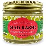 BALM! Baby MAD Rash * Natural Diaper Rash Balm & ALL Purpose Skin Aid * with ZINC (2 Ounce Glass Jar)