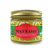 BALM! Baby MAD Rash Natural Diaper Rash Balm & ALL Purpose Skin Aid with ZINC (2 Ounce Glass Jar)