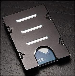 product image for HMC Billet RFID Protection Credit Card Holder Standard Aluminum Wallet, Black