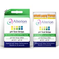 pH Test Strips 100ct by Alterion - Fast & Simple pH Strips for Urine and Saliva - Quick and Accurate Results in 15…