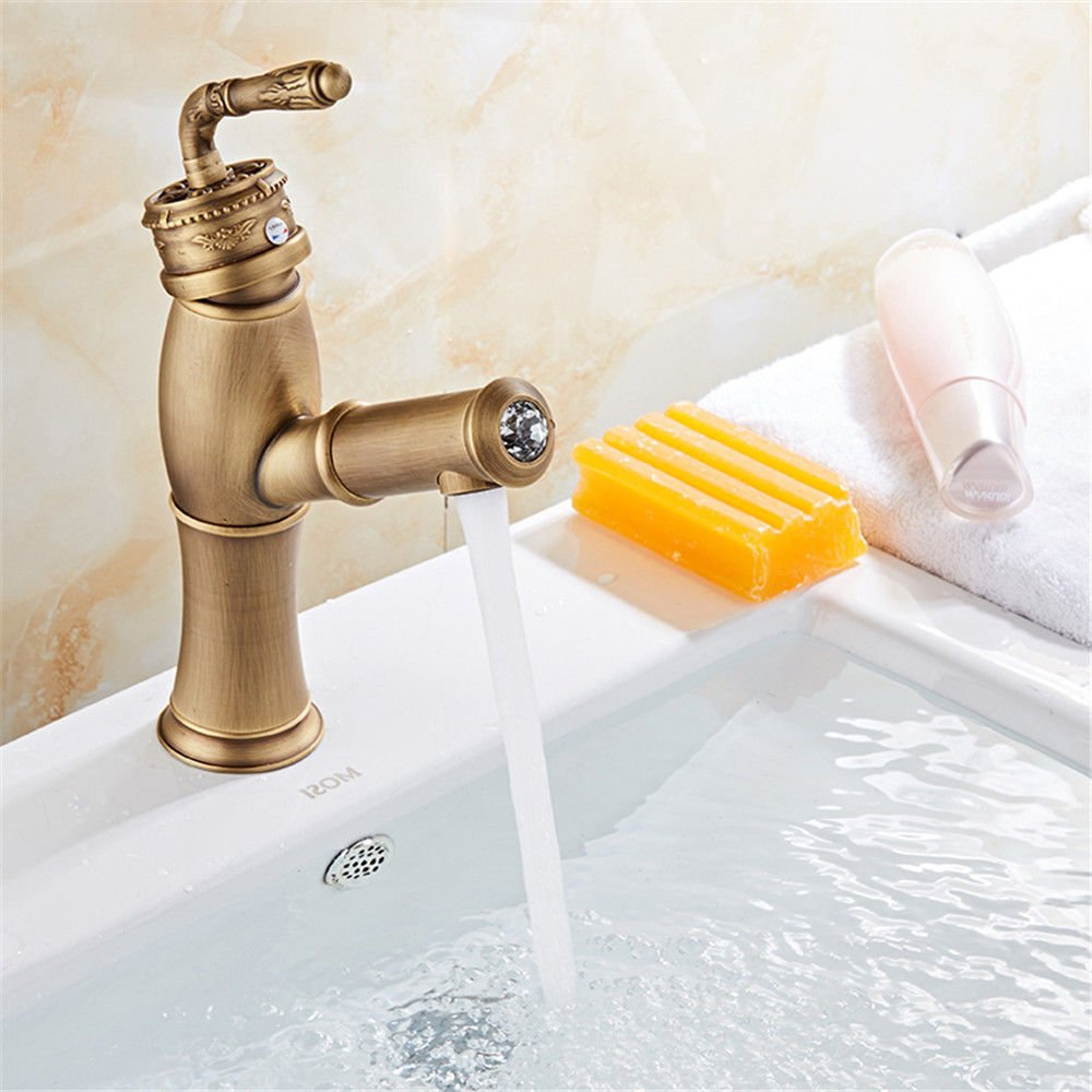 AQiMM Modern Commercial Bathroom Faucet Copper For The High Cold Water Check Drop Laundry Vanity Sink Faucet