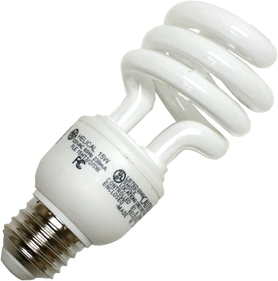 GE 15831 - FLE15HT3/2/827 Twist Medium Screw Base Compact Fluorescent Light Bulb
