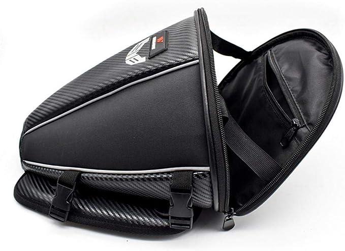 15L Bolsas De Tanque A Prueba De Agua Haodene Bolsas De Tanque Moto Bolsa De Asiento Trasero para Motocicleta Bolsa De Tortuga De Microfibra De Cuero Multifuncional