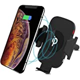 Wireless Car Charger Mount and Air Vent Phone Holder, 10W/7.5W Fast Charging & 5W Standard Charger, Compatible with Samsung S9, S9+, S8+, Note, Qi Enabled