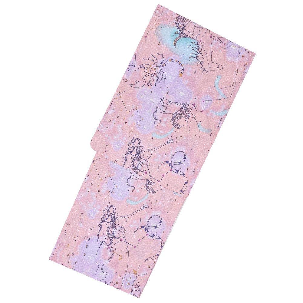 ツモリチサト 浴衣単品「ピンク 星座」tsumori chisato レディース 綿浴衣 日本製 B07CBJ2KKR
