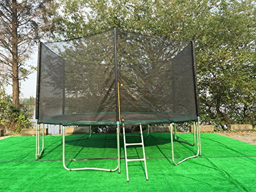 ExacMe-Trampoline-12-16-FT-Enclosure-Net-Green-Safety-Pad-Ladder-ALL-IN-ONE-Combo-T12-T16