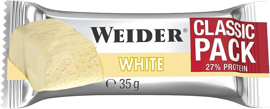 Weider Classic Bar Chocolate Blanco 24 x 35 gr. Con un 27% de Proteína