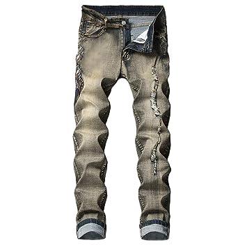 LILICAT✈✈ Pantalones Vaqueros Rotos Hombre, Jeans ...