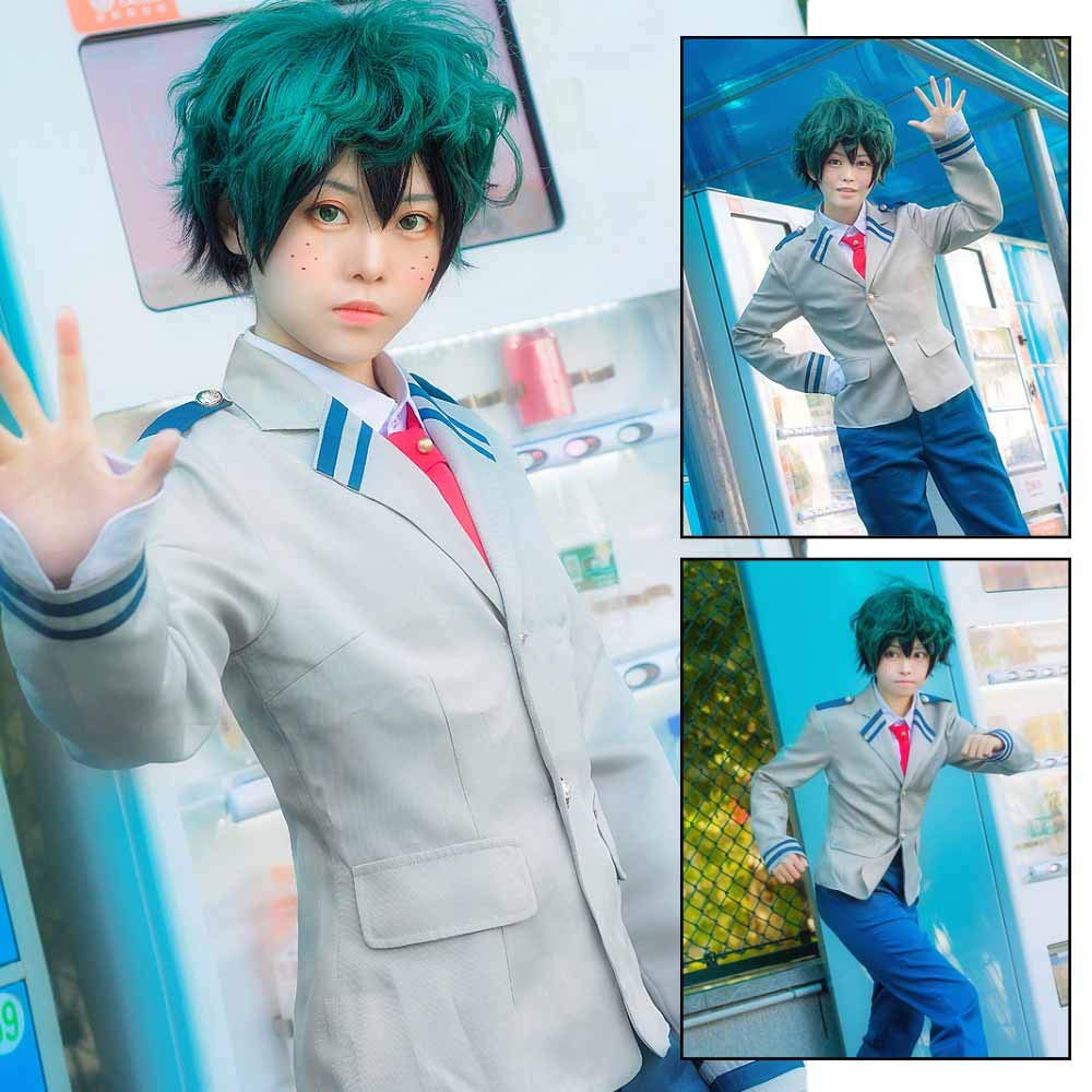 Anime Cosplay My Hero Academia Ochaco Uraraka/Izuku Blazer Cosplay Costume School Girls Boys Uniform Costume (Pants Set, S/Waist 24.41'') by KINOMOTO (Image #4)