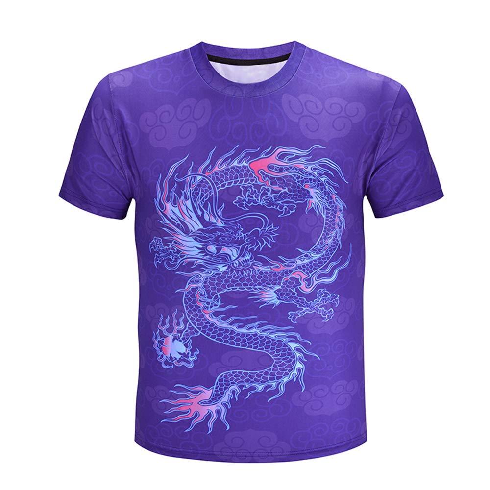 ZzSTX Dragon T Shirt Sommer Männer Frauen T-Shirt Plus Größe T-Shirts Kurzarm Tops T