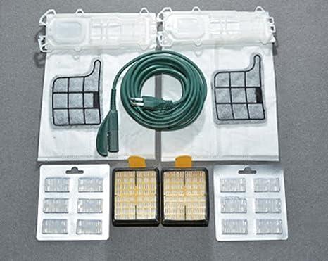 12 Staubsaugerbeutel, Mikrofaser + 12 Düfte + 2 EPA-Filter + 1 elektrisches Kabel, 7 m, + 2 Motorschutzfilter für Vorwerk Kob