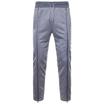 ZARLLE_Pantalones Casuales para Hombres 2018 Verano Nuevos Pies Pantalones Casual Fashion Cremalleras Laterales De Gran TamañO