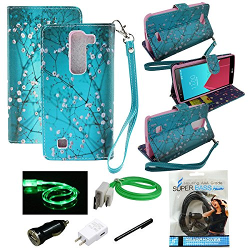 Mstechcorp - Lg Volt 2 Case, Lg Magna Case, Lg Volt 2 (Boost Mobile) ,Lg Magna, Dual-use Flip Fold Wallet Pouch Case for Lg Volt 2 (Boost Mobile), Lg Magna - Includes Accessories (Butterfly Sensation)